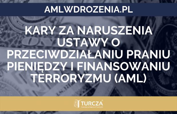 Kary za naruszenia ustawy o przeciwdziałaniu praniu pieniędzy i finansowaniu terroryzmu (AML)